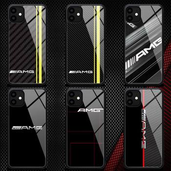 Diseny Mercedes Benz AMG Car Phone Case Rubber for iPhone 12 11 Pro Max XS 8 7 6 6S Plus X 5S SE 2020 XR 12Mini case image