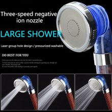 3 Mode High Pressure Filter Ionic Stone Stream Household Bathroom Shower Head Water Saving Filter Nozzle A(China)