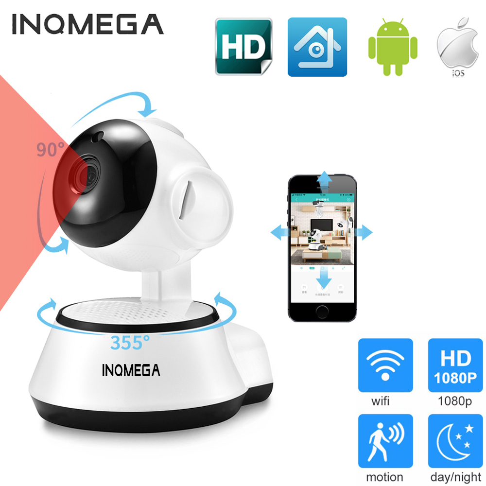 INQMEGA Home Security IP Camera Wireless Smart WiFi Camera WI-FI Audio Record Surveillance Baby Monitor HD Mini CCTV Camera