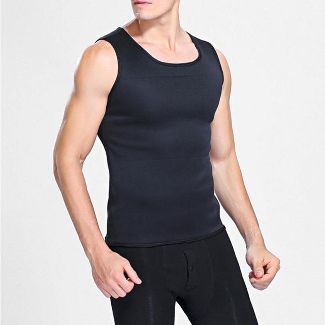 Fitness Men'S Fashion Belt Shirt Shaper S,M,L,XL,XXL,XXXL Green Black Training Vest Fashion Sweat Suit 1