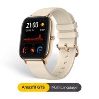 Globalna wersja Amazfit GTS inteligentny zegarek 5ATM wodoodporny Smartwatch 14 dni bateria GPS sterowanie muzyką skórzany pasek silikonowy