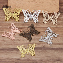 BoYuTe (50 Pieces/Lot) 25*35MM Butterfly Metal Brass Filigree Findings Diy Hand Made Jewelry Accessories