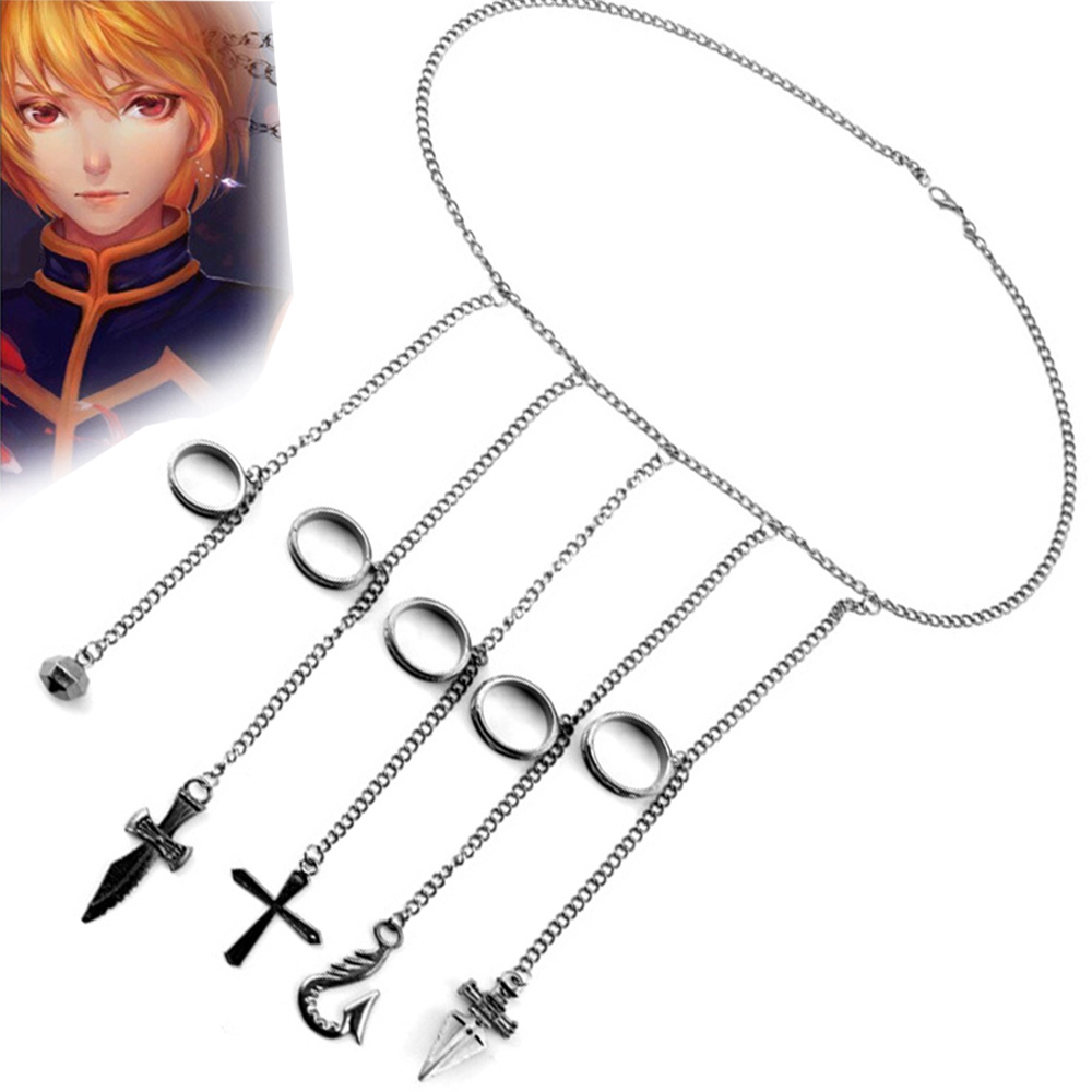 Cartoon Hunter x Hunter rings Kurapika cosplay costume prop metal ring