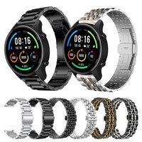 Cinturino da polso classico in metallo in acciaio inossidabile per Xiaomi mi cinturino per Smartwatch a colori per cinturini per cinturino Mi watch color