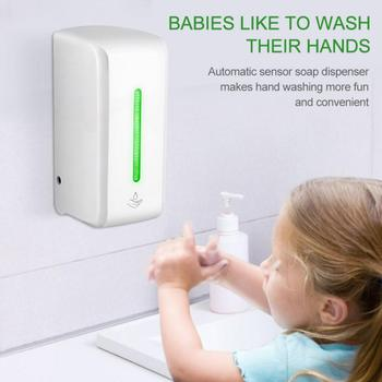 850ML automatyczny czujnik ręczny dezynfekcja maszyna bezdotykowy ścienny płynny ręczny urządzenie do oczyszczania przenośny dozownik do mydła nowość tanie i dobre opinie CN (pochodzenie) Dozownik mydła w piance Dozownik do mydła w płynie Automatyczny dozownik mydła ZN241246