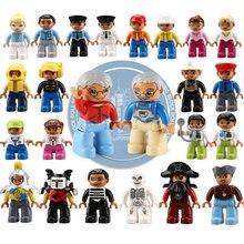 Blocs de construction x1 pour enfants, jouets compatibles avec les grands chiffres, les pompiers, les cambrioleurs, les princesses, les policier bricolage les mamans