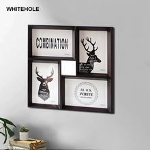 4Pcs Combination 10X15cm Wooden Photo Frames For Wall Classic Picture Frame Photo,Wall Art Home Decor Poster Frame,Holiday Gift 100pcs paper photo frame set picture mats mini wooden clips string hanging cardboard picture frame for home room wall decor diy