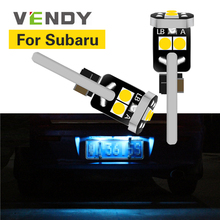 1pcs For Subaru Legacy Forester Impreza Outback Tribeca Crosstrek XV BRZ WRX STI LED License Plate Light Bulb Lamp W5W T10 2825 airspeed for subaru levorg xv sti forester wrx impreza accessories sti led cup coaster acrylic cup holder interior decoration