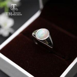 Image 5 - Bague opale naturelle pour femmes, bague ovale, bijou fin simple et élégant, en argent sterling 925, 7x9mm, promotion tbj