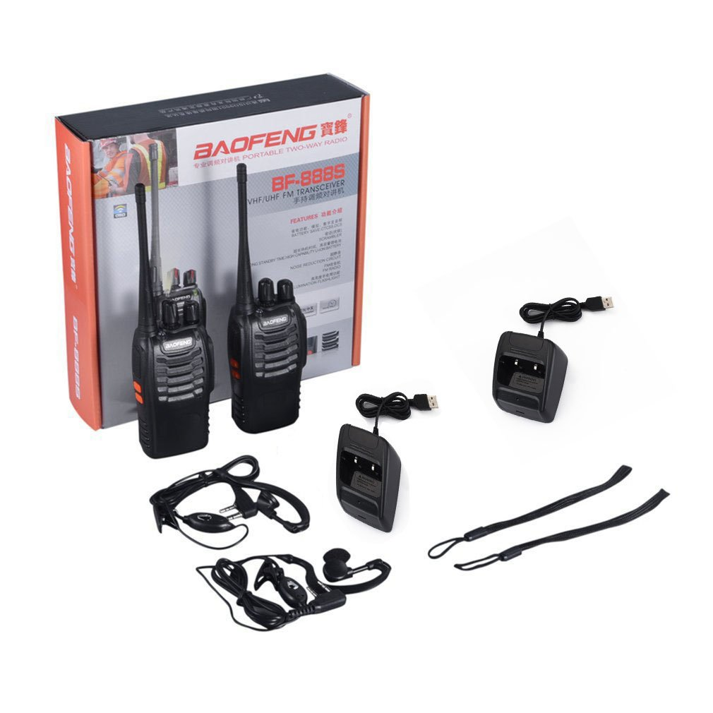 2pcs/lot Baofeng BF-888S Walkie Talkie Portable Transceiver Comunicador UHF Two Way Radio 888s UHF 400-470mhz 16CH 16 ACEHE