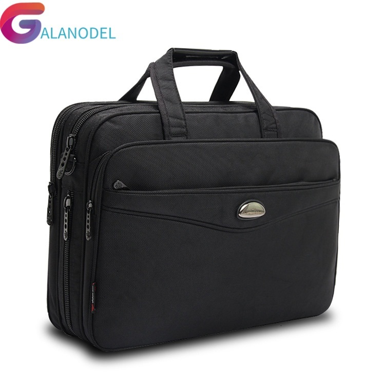 Bag Laptop Bags Crossbody Briefcase Business Men 15.6 Bolsas Homme Large Capacity Oxford Briefcases For Men With Long Straps B76
