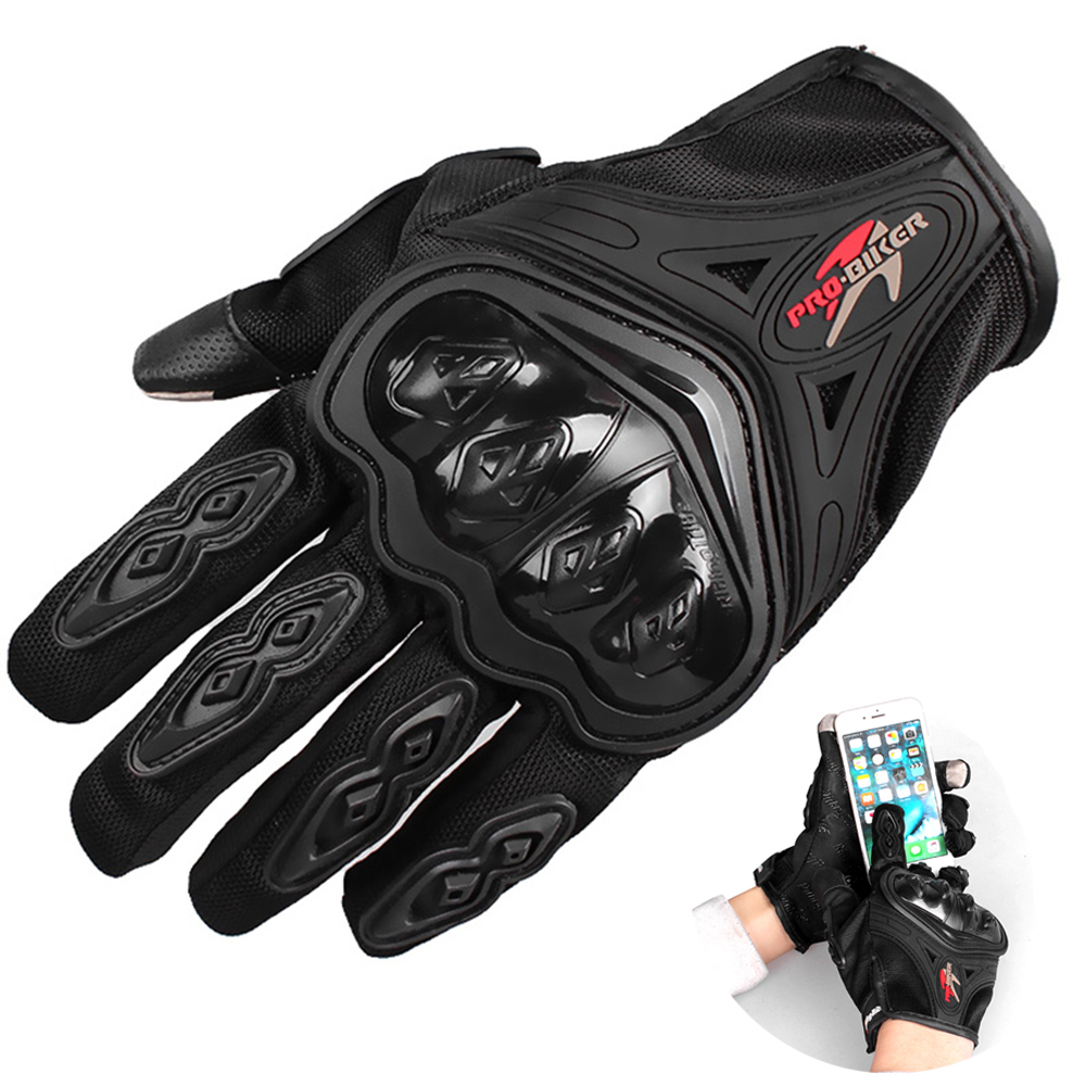 Touch Screen Gloves Full Finger Motorcycle Gloves Motocross Luvas Guantes Moto Protective Gears Glove