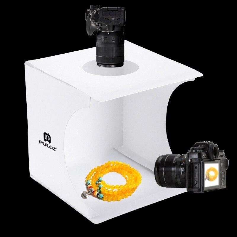 קופסאת צילום מקצועית ניידת עם תאורה מובנית 5
