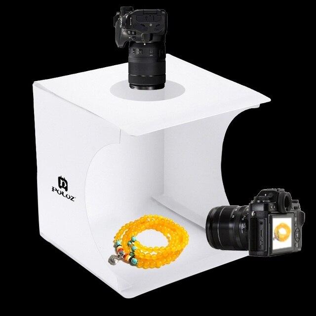 Mini Ring light Box pieghevole portatile Studio fotografico box fotografia Softbox light Box Studio tiro tenda Kit con 6 fondali 5