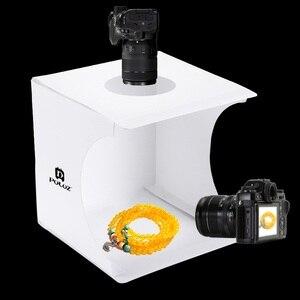 Image 5 - Mini halka ışık kutusu katlanır taşınabilir fotoğraf stüdyosu kutusu fotoğraf ışık kutusu stüdyosu çekim çadır kutusu kiti ile 6 arka planında