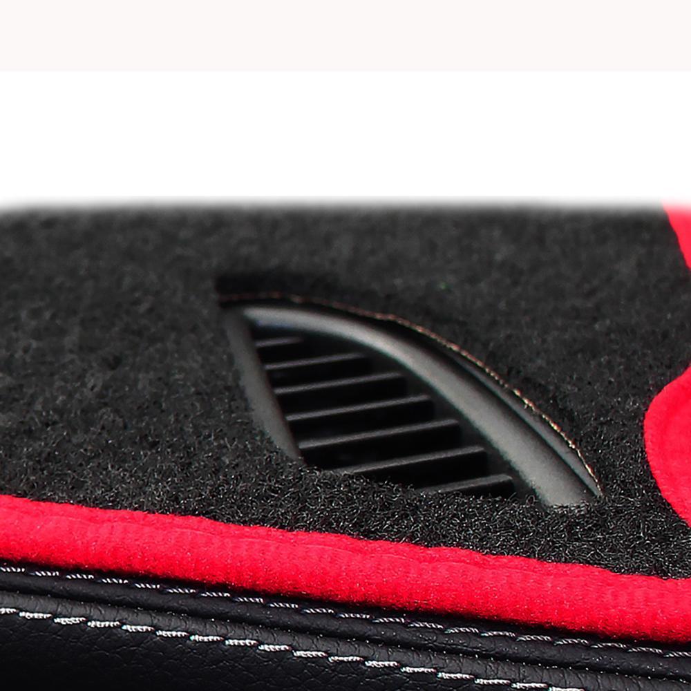 Image 3 - A Little Change Car dashboard cover Mats Avoid light pad Instrument platform desk Carpets For Tesla MODEL S X