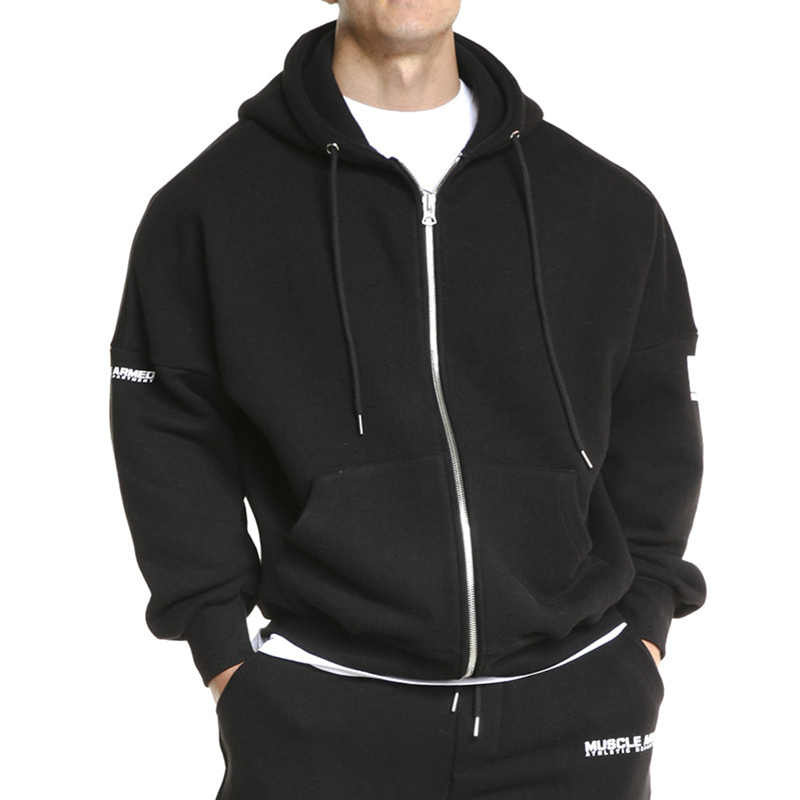 2019 mode trends Männer neue stil sport hoodies Casual training T lose komfortable zipper tops marke mit kapuze mantel