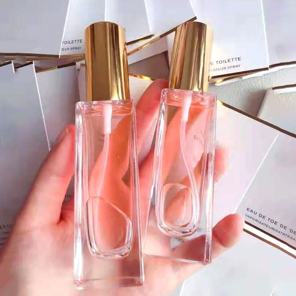 1 Pcs 30/50ml Portable Clear Glass Refillable Perfume Atomizer Empty Spray Bottle Squeeze Containers