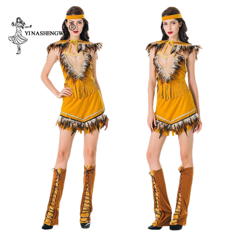 Indian Dress Women Lehenga Choli Sexy Halloween Cosplay Costume Indian Tribal Dance...