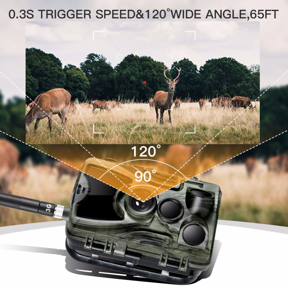 Suntek 20mp 1080p 2.4 Inch HD 3G MMS/SMTP/SMS Trail Camera Hunting 940nm IR LED Photo Traps Night Vision Scout Animal Camera-3