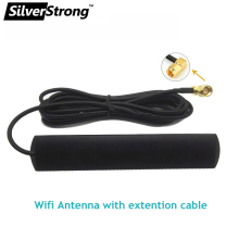 Antenna Connector Extention-Cable Wifi Male SMA Silverstrong with 2M 700-2700mhz 4dbi