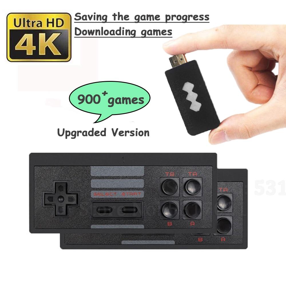 818 4k jogos usb console sem fio clássico jogo vara console de jogos vídeo 8 bit mini retro controlador hdmi saída dupla jogador hd