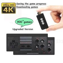 818 4K 게임 USB 무선 콘솔 클래식 게임 스틱 비디오 게임 콘솔 8 비트 미니 레트로 컨트롤러 HDMI 출력 듀얼 플레이어 HD