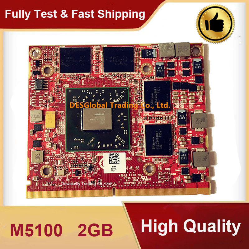Firepro M5100 2GB Video VGA Graphic Card 216-0846000 VGA Video Card CN-05FXT3 5FXT3 For DELL Precision M4700 M4800 Fully Tested