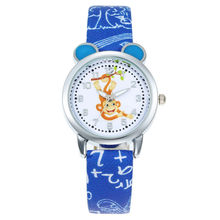 New Cartoon Children Monkey Watch Fashion Boys Kids Student