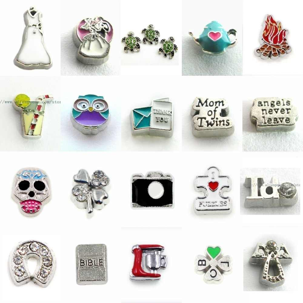 100Pcs Charms Drijvende Medaillon Geheugen Charms Fit Drijvende Glas Geheugen Medaillon