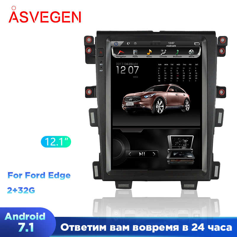 "Auto Radio Gps Speler Voor Ford Edge 2009-2014 Android 7.1 12.1 ""Tesla Verticale Screen Navigatie Multimedia Systeem wifi A/C Bt"