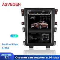 """Car Radio GPS Player For Ford EDGE 2009-2014 Android 7.1 12.1"""" Tesla Vertical Screen Navigation Multimedia System WIFI A/C BT"""