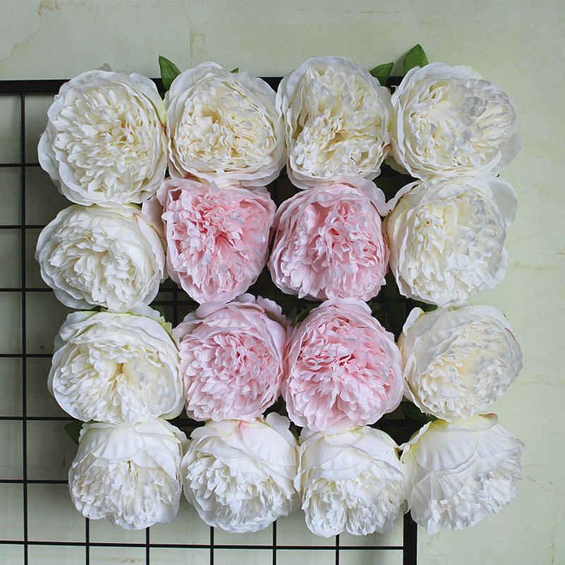 גדול אדמונית פרח ראשי המפלגה קיר חתונה כביש led קשת DIY קישוט אדמוניים משי פרחים מלאכותיים פלורס artificiales