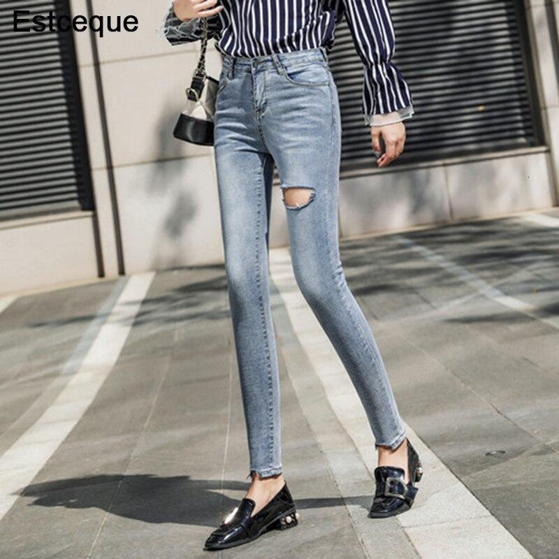 Новинка, рваные джинсы, женские винтажные джинсы, женские высокие джинсы с хвостом, узкие джинсы, тонкие женские джинсы