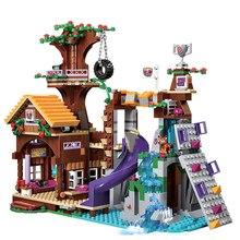 Compatible with Legoes Friends Adventure Camp Tree House Emma Mia Figure Model Building Blocks Brick