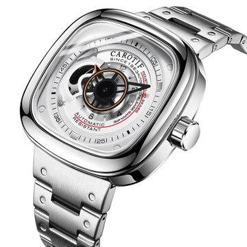 CAROTIF Top Quality Luxury Full Steel Men Watches Montre Automatic Mechancal Wrist Watches Men Reloj Hombre Business Watch Man