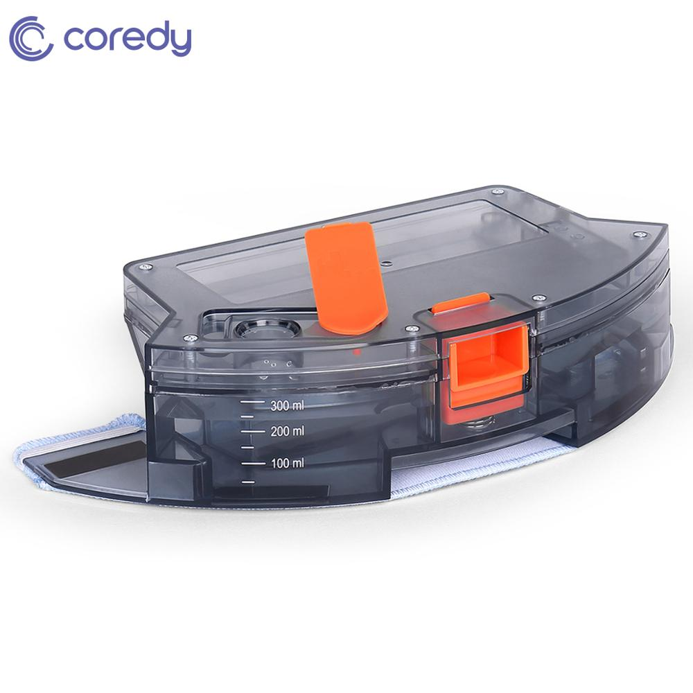 Coredy Robot Vacuum Cleaner Spare Parts Replacement 300ml Water Tank Reservoir With 1pcs Mop Clothes For R500+ Sweeper Mopping