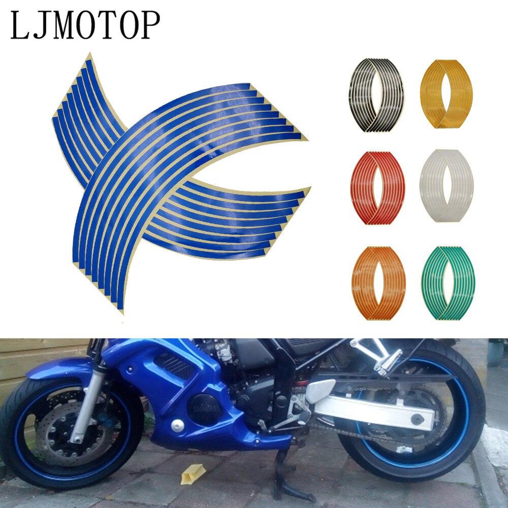 Motorcycle Wheel Sticker Motocross Reflective Decals Rim Tape Strip For Suzuki GSX 1250 1400 650F SFV650 SV650 GSXR 600 750