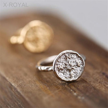 X-ROYAL 2019 Punk Style Fashion Compass Pattern Unisex Rings Gold Silver Color Round Classic Wedding Party