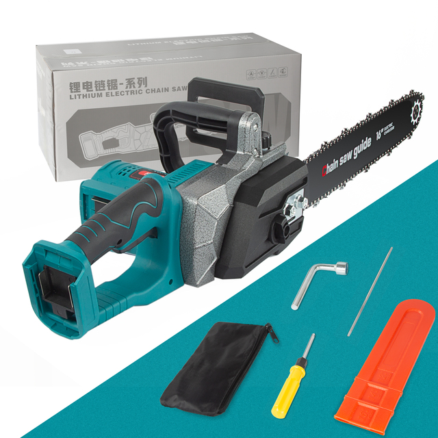 Abeden 2200W Electric Saw Chainsaw Wood Cutters Bracket Brushless Motor Lithium ion Makita 18v Battery Chain Saw Power Tool