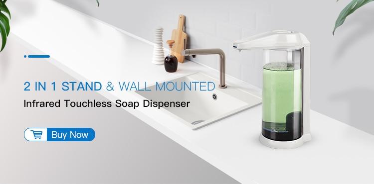 Hadb1fdc9cfb44483a804ada528899f192 350ml Automatic Soap Dispenser Hand Free Touchless Sanitizer Bathroom Dispenser Smart Sensor Liquid Soap Dispenser for Kitchen
