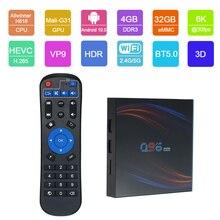2020 najnowszy TV Box z androidem Q96HERO z systemem Android 10. W wieku 0 Smart TV Box Allwinner H616 Quad core UHD 4K odtwarzacz multimedialny 6K 4GB 32GB TV Box