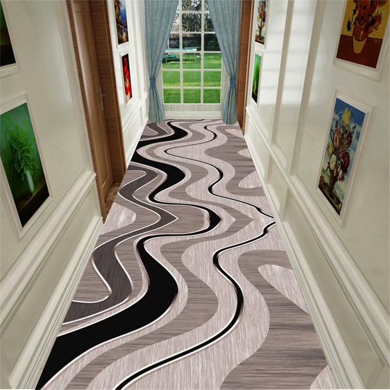 Moderne Long tapis pour escalier nordique couloir couloir tapis pour salon maison hôtel allée coureur tapis anti-dérapant cuisine tapis