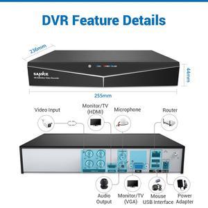 Image 2 - SANNCE 4CH 1080P HD ระบบกล้องวงจรปิด 1080N HDMI Video Recorder DVR ชุด 2MP กล้องวงจรปิดความปลอดภัยกล้อง IR การเฝ้าระวังกลางแจ้งชุดสีขาว