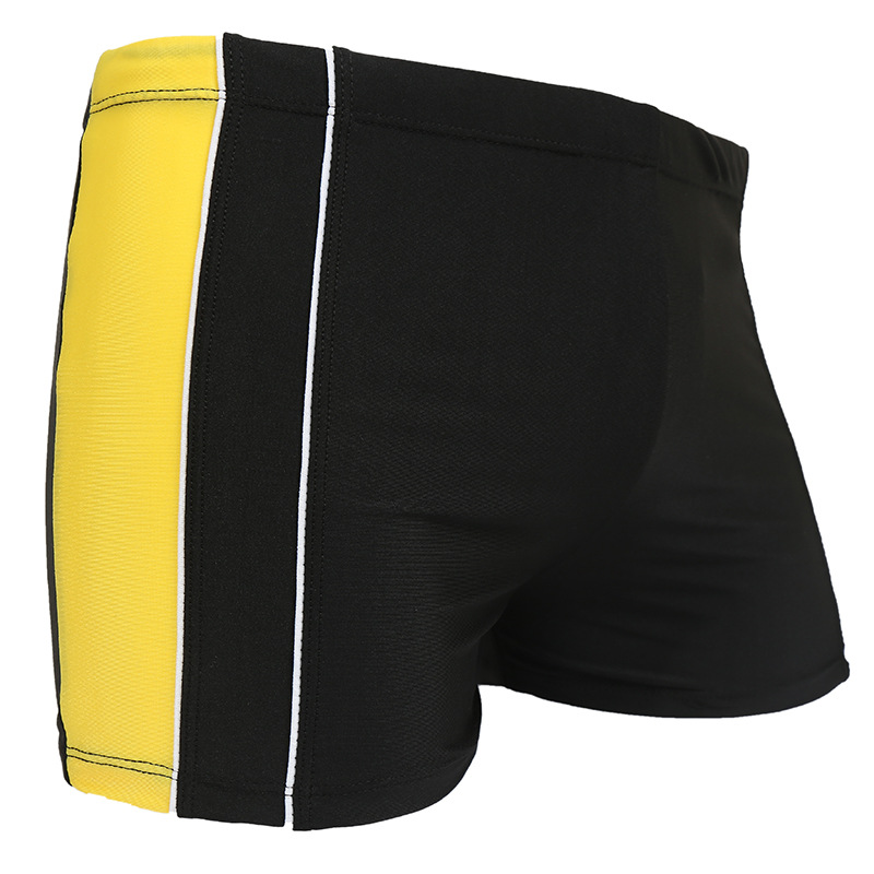 Men Fashion Stripes Swimming Trunks Korean-style Boxer Swimming Quick-Dry Plus-sized Loose-Fit Beach Shorts