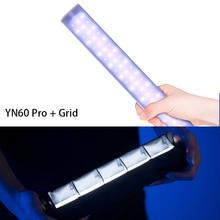YN60 Pro RGB светодиодный светильник для заливки ледяной светильник для фотосъемки ручной заполняющий светильник для портретной съемки видео с батареей
