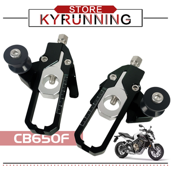 For cb650r cbr650r 2019 CB650F CBR650F 2014-2016 Motorcycle Aluminum Chain Plate Clamping Adjusters with Catena Coil Tensioners