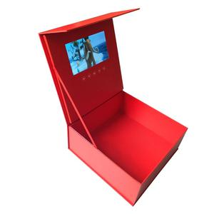 Image 5 - Custom production hardcover box video Brochure 7inch Universal Video Greeting Card 2gb watching booklet box for Advertising