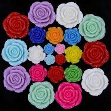 Spacer Beads Cameos Dome Seals Base Setting For Bracelet Rings Earrings Resin Flower Rose Shape Candy Green Jewelry DIY Findings