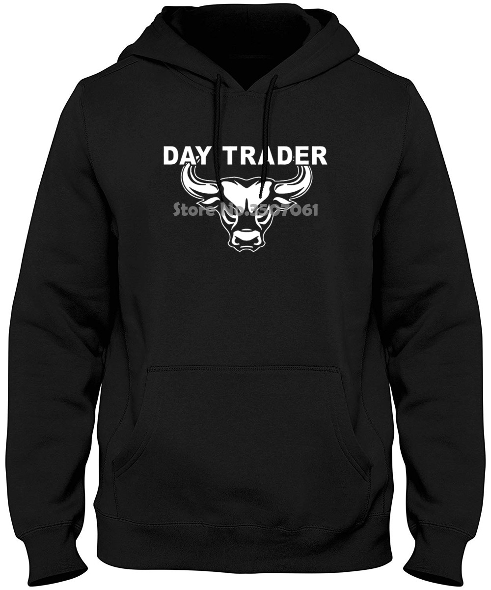 Adult S-2Xl Day Trader Wall Street Mad Stock Market Trading Cramer MoneyBull Bear Jim Hoodies & Sweatshirts image
